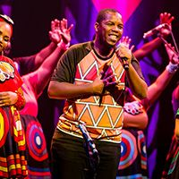 "<font style=""color:#1294d8;""><b>Soweto Gospel Choir; <i>Songs of the Free</i></b></font>"